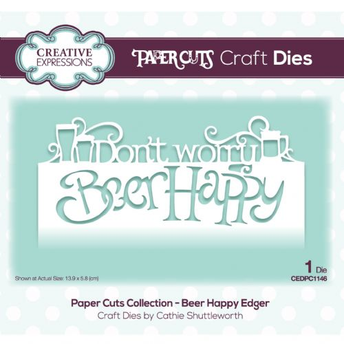 Creative Expressions Paper Cuts Edger - Beer Happy Craft Die